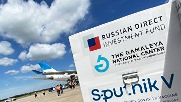 Прибытие рейса с вакциной Sputnik V в Аргентину