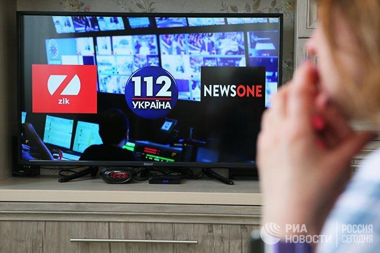На Украине введены санкции против трех телеканалов