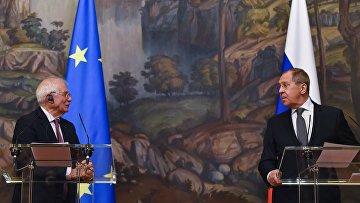 Встреча главы МИД РФ С. Лаврова и верховного представителя ЕС Ж. Борреля