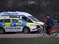 Полицейские  в парке в Лондоне