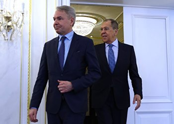 Встреча глав МИД РФ и Финляндии С. Лаврова и П. Хаависто