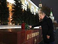 Президент РФ В. Путин возложил цветы в день 77-летия снятия блокады Ленинграда
