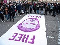 Акция в поддержку испанского рэпера Пабло Хаселя в городе Льейда, Испания