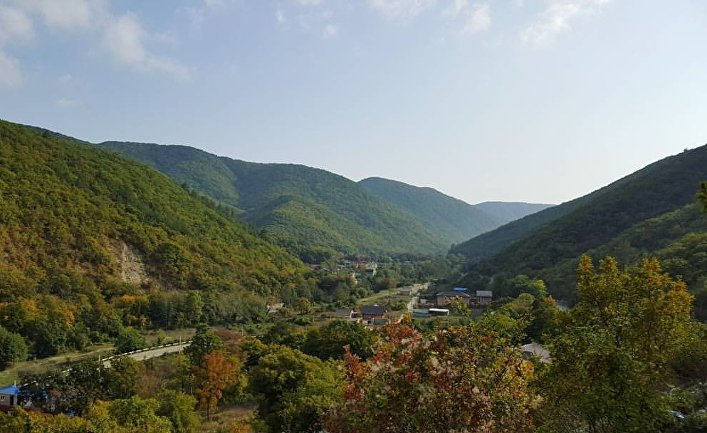 Вид на село Прасковеевка