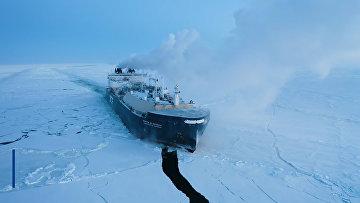 Между нами сломан лёд: арктический газовоз завершает уникальный рейс по Северному морскому пути
