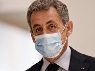 Бывший президент Франции Николя Саркози в здании суда Парижа, Франция