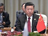 Председатель КНР Си Цзиньпин во время встречи лидеров БРИКС в ЮАР