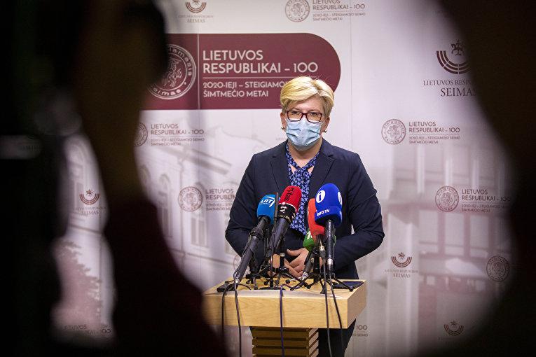 Премьер-министр Литвы Ингрида Шимоните