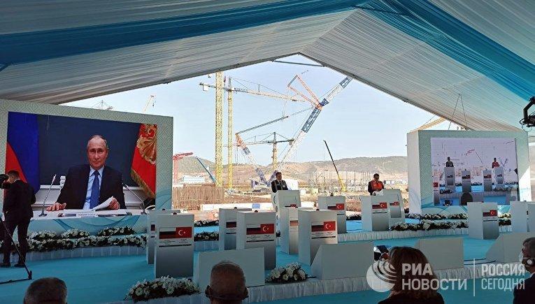 """Начало строительства третьего блока АЭС """"Аккую"""" в Турции"""