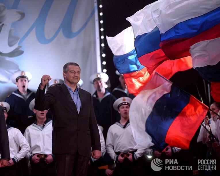В центре Симферополя после голосования на референдуме о статусе Крыма