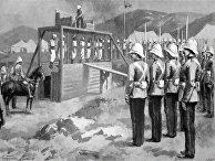 Казнь турецких солдат британскими военными в Ираклионе, Крит