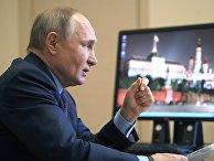 Президент РФ В. Путин провел совещание по вопросам наращивания производства вакцин и вакцинации населения РФ