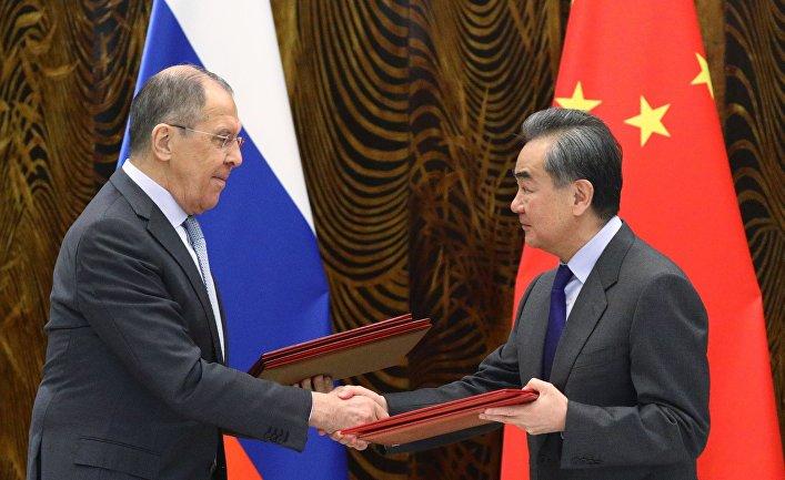Визит главы МИД РФ С. Лаврова в Китай