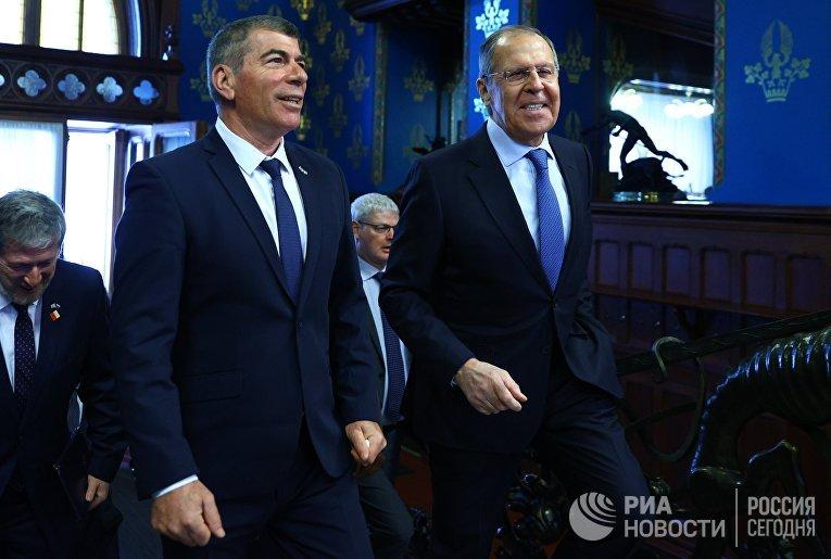Встреча глав МИД РФ и Израиля С. Лаврова и Г. Ашкенази