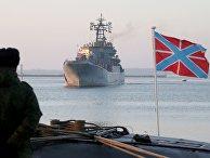 Большой десантный корабль (БДК) «Калининград» в военной гавани Балтийска