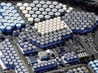 """Резервуары для хранения очищенной воды на разрушенной цунами атомной электростанции """"Фукусима"""", Япония"""