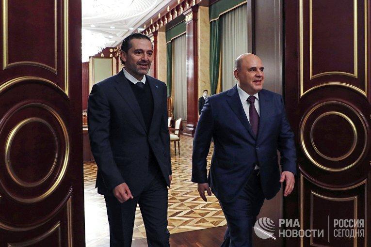 Премьер-министр РФ М. Мишустин встретился с премьер-министром Ливана С. Харири