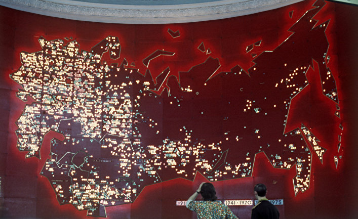 Карта СССР в одном из павильонов ВДНХ