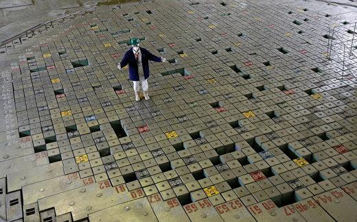 Реакторный зал третьего энергоблока Чернобыльской АЭС