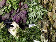 Зелень на рынке выходного дня в Цхинвале