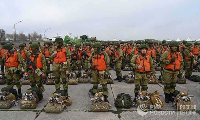Отправка десантников на учения в Крым