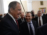 Встреча глав МИД РФ и Ливана Сергея Лаврова и Джебрана Басилема