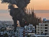 Последствия израильских авиаударов по Хан-Юнису в секторе Газа