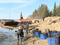 В Коми ликвидируют последствия разлива нефтепродуктов