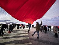 Демонстрация в знак протеста против преследований оппозиции в Белоруссии, Вильнюс, Литва