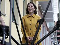 Анналена Бербок («Зеленые») напресс-конференции вБерлине, Германия
