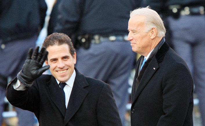 Вице-президент Джо Байден и его сын Хантер Байден, 2009