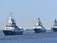 Репетиция парада ко Дню ВМФ в городах России