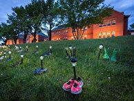 Народный мемориал у бывшей школы-интерната в Камлупсе, Канада