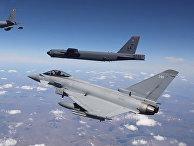Американские ядерные бомбардировщики и самолеты НАТО провели военные игры