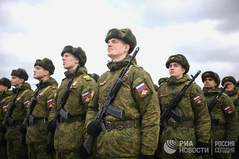 Совместная тренировка пеших парадных расчетов войск Московского гарнизона к военному параду