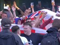 Евро-2016: потасовки между болельщиками сборной Англии и России в Лилле