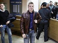 Роман Протасевич в здании суда в Минске в 2017 году