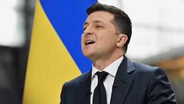 Пресс-конференция президента Украины В. Зеленского