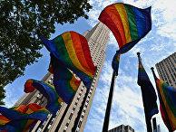 Флаги ЛГБТ-сообщества в Нью-Йорке