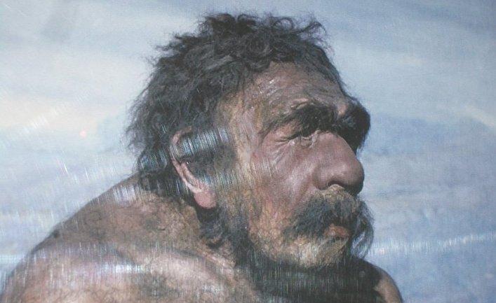 Скульптура неандертальца