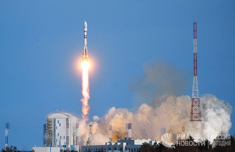 Пуск ракеты «Союз-2.1а» с космодрома «Восточный»