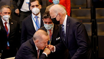 Президент Турции Тайип Эрдоган и президент США Джо Байден