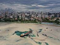 Белесый налет, возникший у южных берегов Стамбула