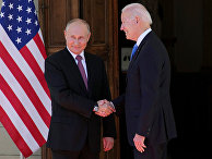 Президент России Владимир Путин и президент США Джо Байден