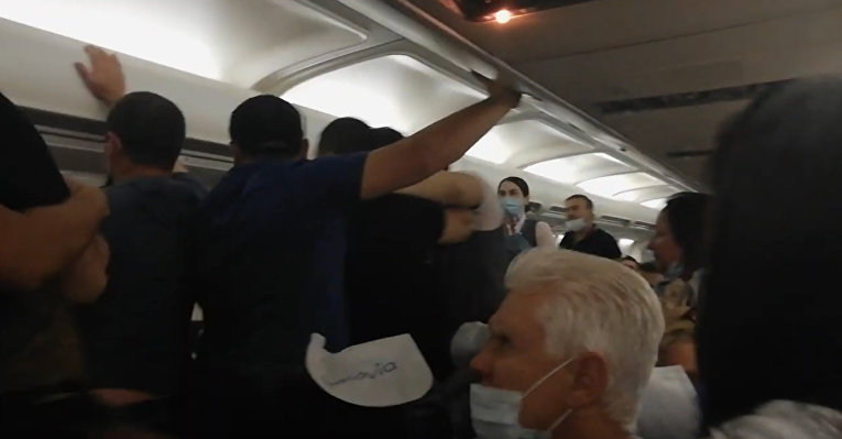 Драка в самолете Минск-Тбилиси