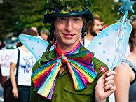 Участник гей-парада в Копенгагене, Дания