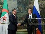 Встреча глав МИД РФ и Алжира С. Лаврова и С. Букадума