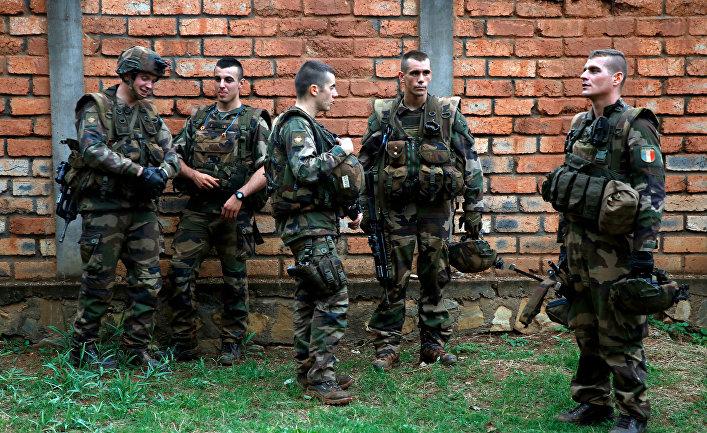 Французские солдаты в Банги, ЦАР