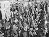 23 июня 1941 года. Мобилизация в Москве. Колонны бойцов движутся на фронт
