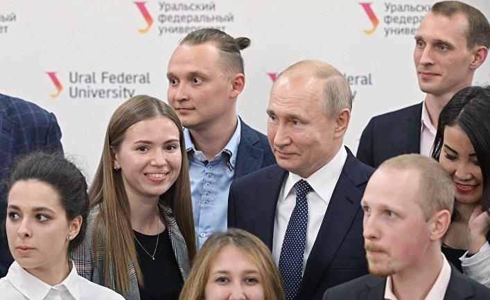 Рабочая поездка президента РФ В. Путина в Екатеринбург